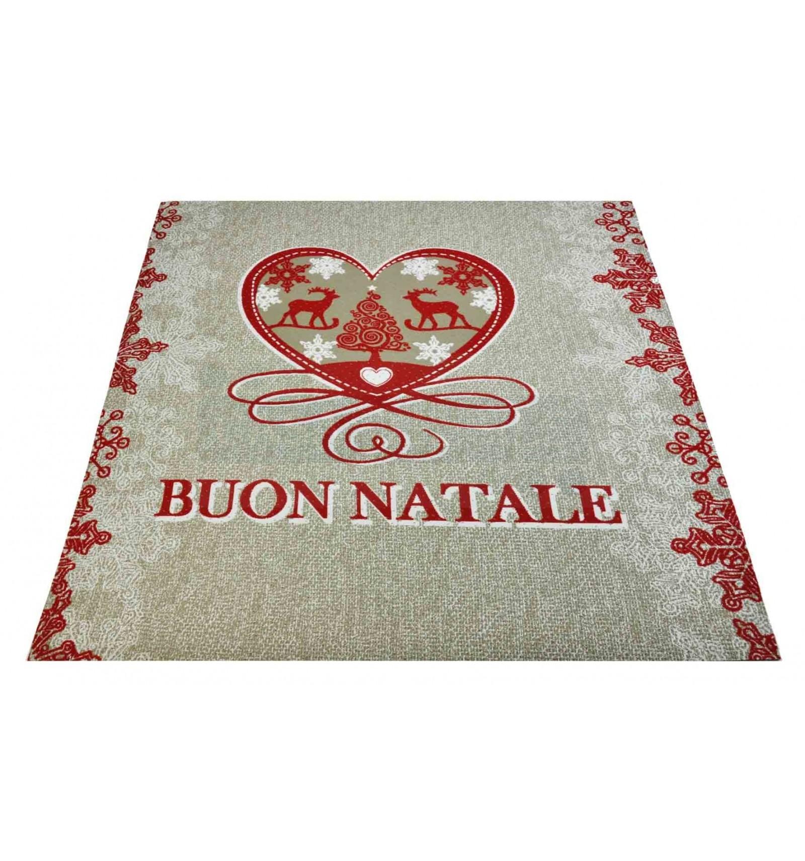 Beige Carpet Merry Christmas Runner 100 X 100 Cm Be1 Casa