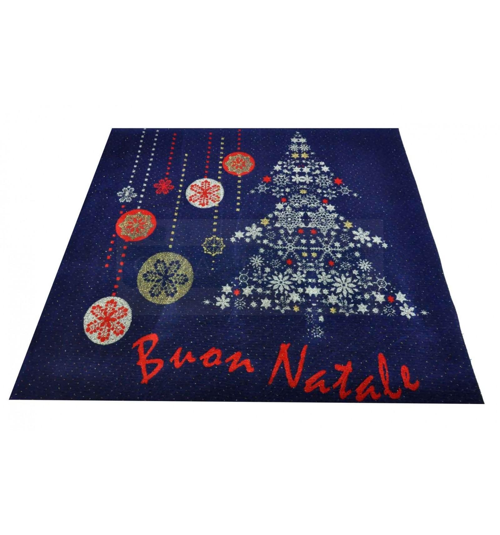 Corredor de alfombra azul buena navidad 100 x 110 cm b6 for Alfombras buenas