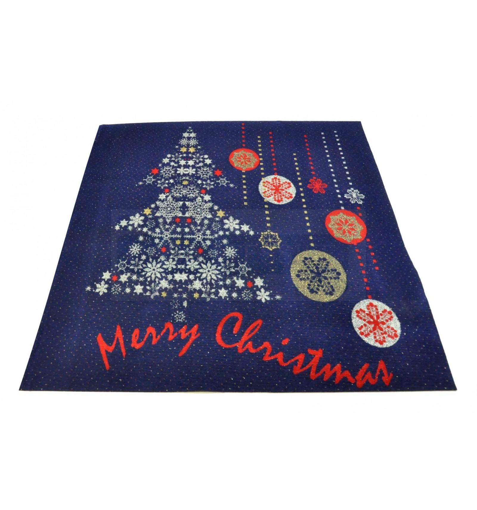 Frohe Weihnachten blau Teppich Läufer 100 x 110 cm. B6Bis | eBay