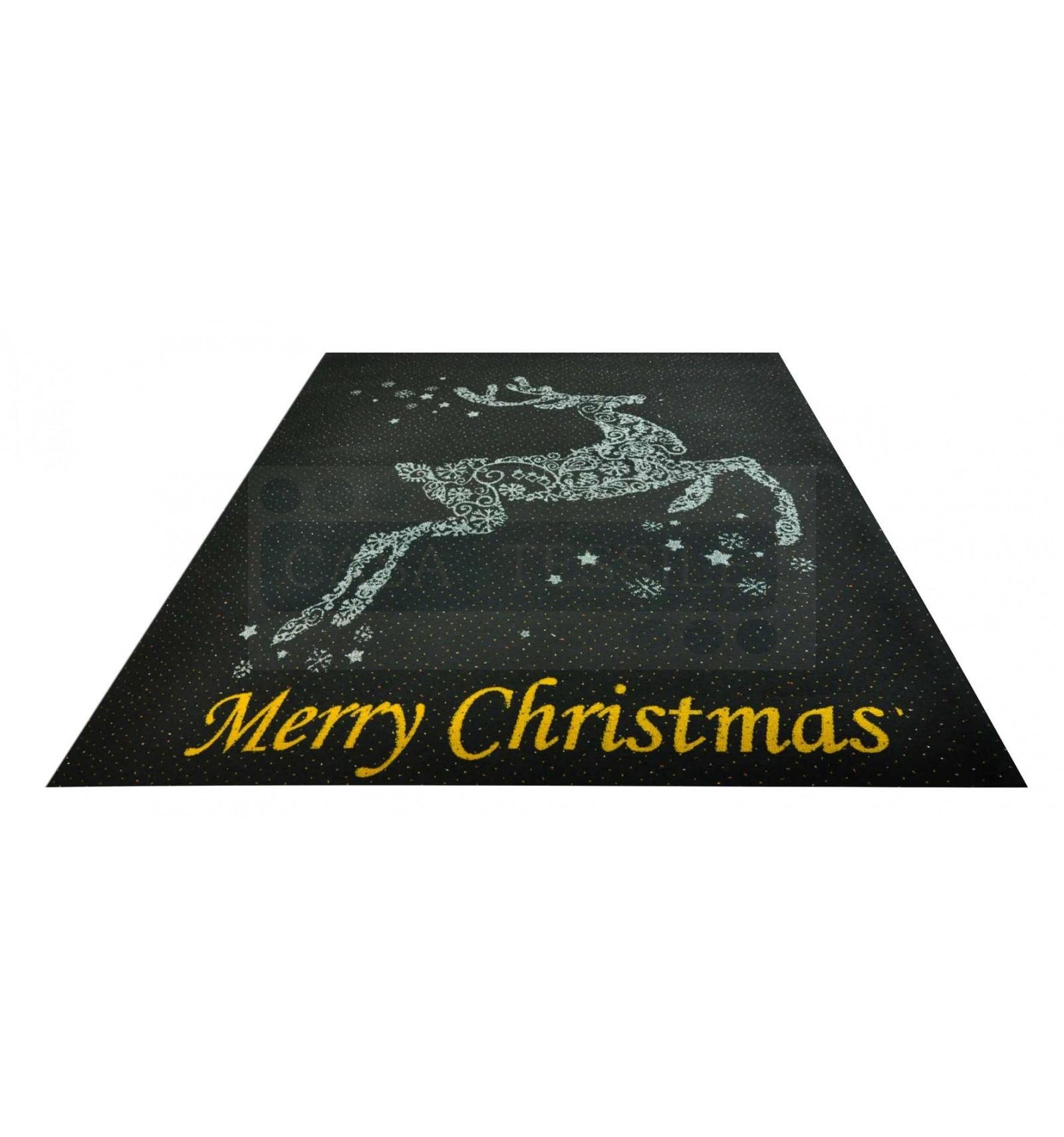 Schwarzer Teppich Frohe Weihnachten Läufer 100 x 120 cm. N1Bis | eBay
