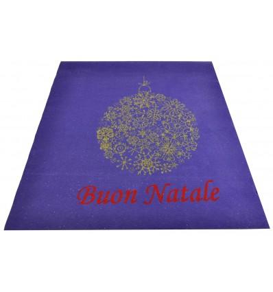 Merry Christmas purple carpet carpet Strip 100x120 cm. V1
