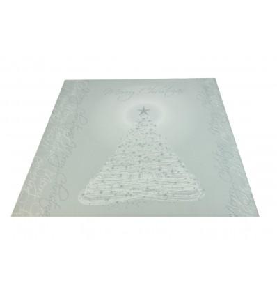 CHRISTMAS TREE white rug runner 100x105 cm. B1