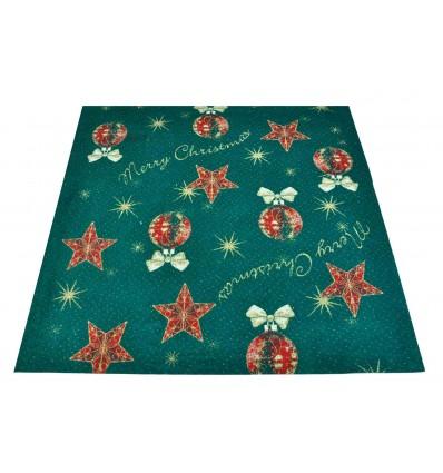 Tappeto di Natale verde ADDOBBI NATALIZI passatoia 100x97 cm. VE2