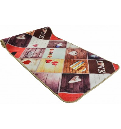 57 cm wide kitchen rug. various sizes GRAFIC LOVE