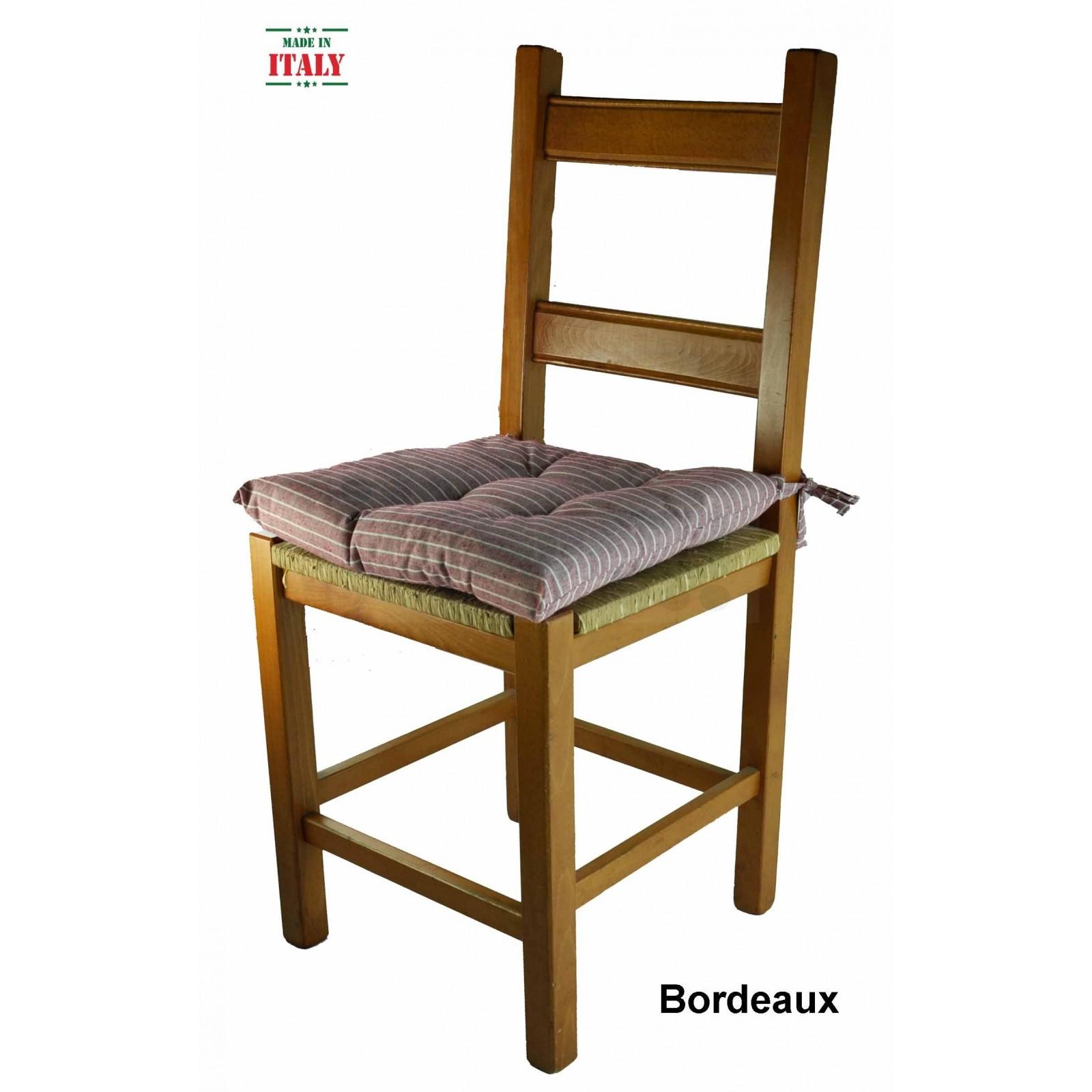 Cuscino per sedia morbidone 40x40 cm rigato casa tessile for Cuscini x sedia