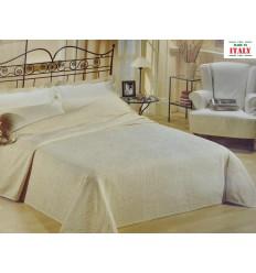Beige CASA TESSILE Kiara Unito Dessus de lit d/écoratif cm 220 x 260