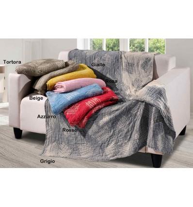 Cloth interior plaid bedspread Stropicciami GRAFFI