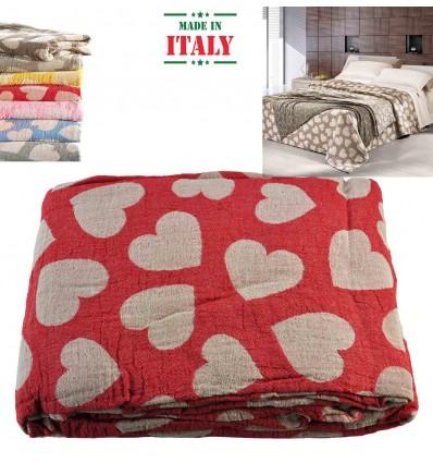Cloth interior plaid bedspread Stropicciami CUORI PIENI