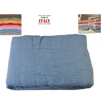 Cloth interior plaid bedspread Stropicciami TINTA UNITA