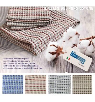 Coppia asciugamani o telo bagno puro cotone APONE MULTICOLOR