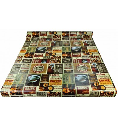 Tablecloth wire h 140 cm. per meter COFFEE
