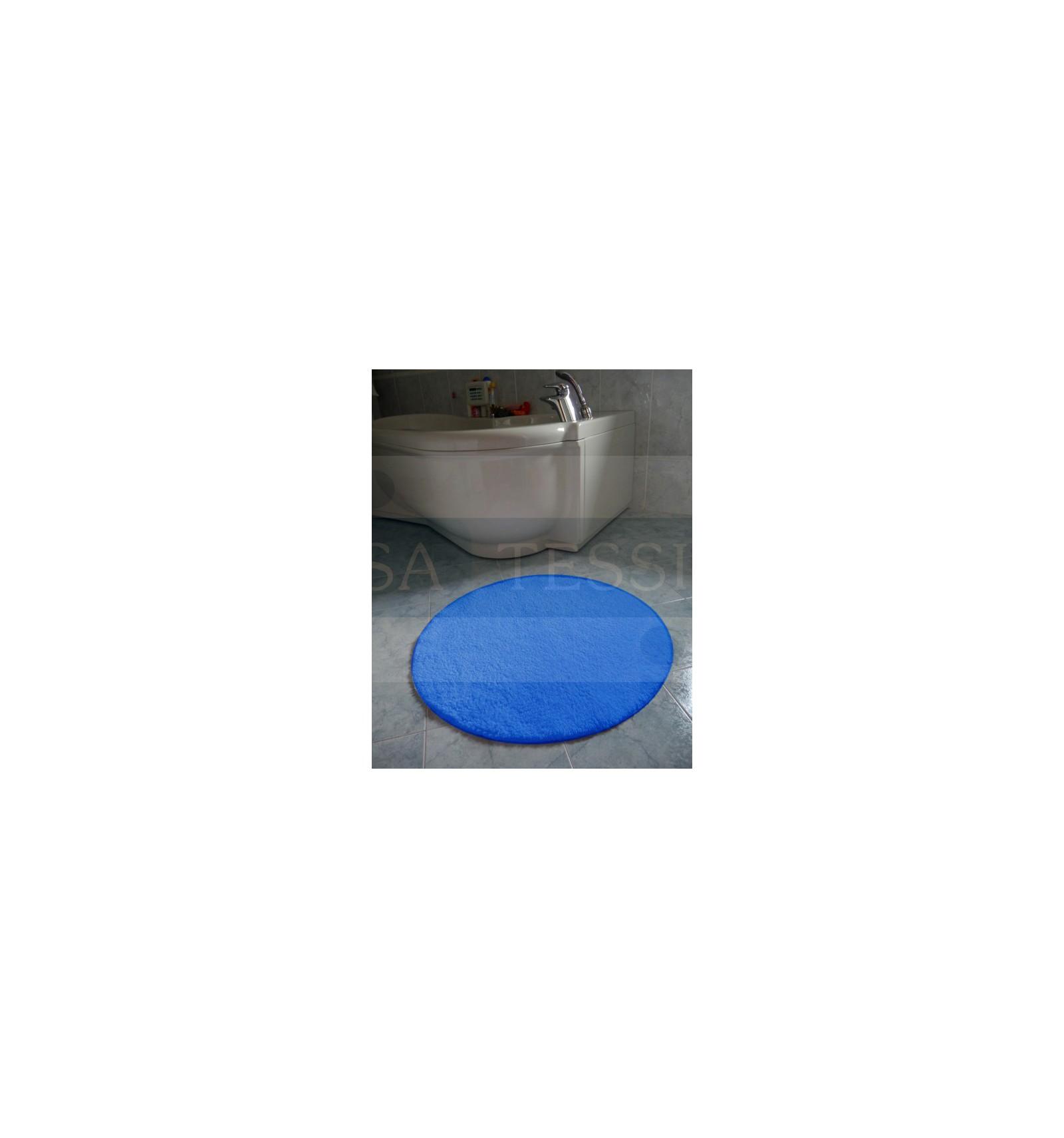 Simple tappeto bagno antiscivolo rotondo cm 80 casatessile - Tappeto rotondo rosso ...