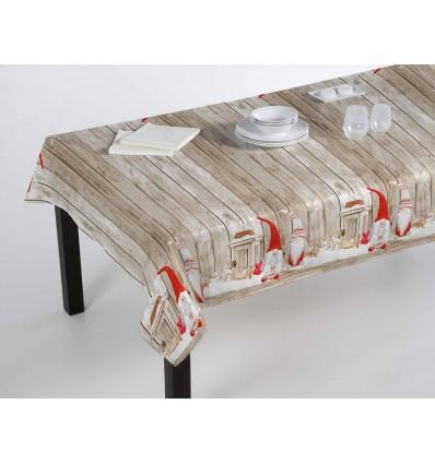 Christmas tablecloth Digital printing gnomes wood