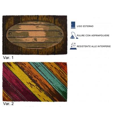 Doormat from Coconut inlet 45x75 cm. WOOD