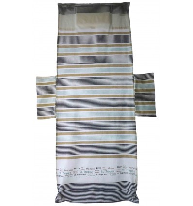 FOUTA Sea Towel for COT 75x195 cm. With Pillow CITY