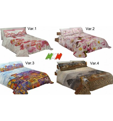 Double bed sheets bedspreads with digital printing pillow case NATURA