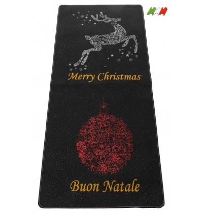 Christmas rug resined bordered MERRY CHRISTMAS E BUON NATALE