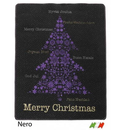 Christmas rug resined bordered MERRY CHRISTMAS TREE