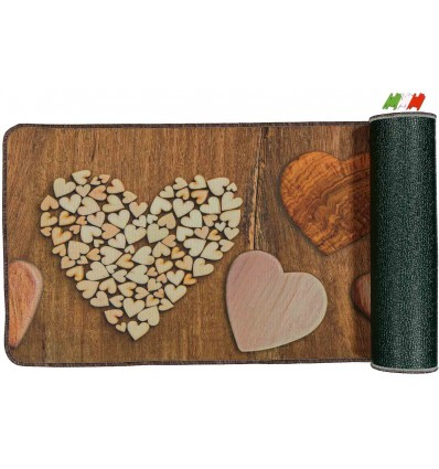 Multipurpose kitchen carpet non-slip 50 cm wide. WOOD HEARTS