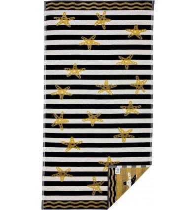 Towel sea sponge jacquard STARS 90x170 cm.