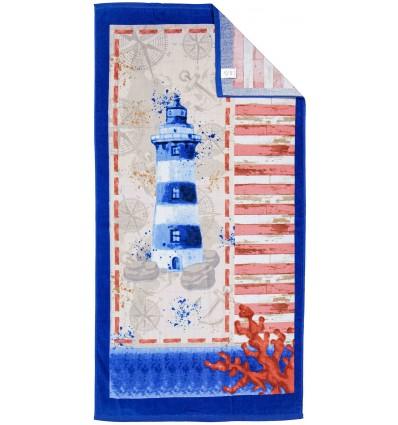 Sea towel sponge printed FARO 80x160 cm.