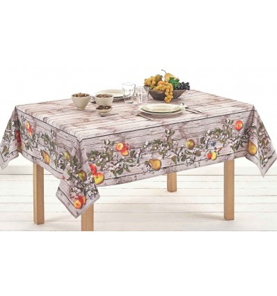 Square cotton tablecloth and rectangular digital print MELE