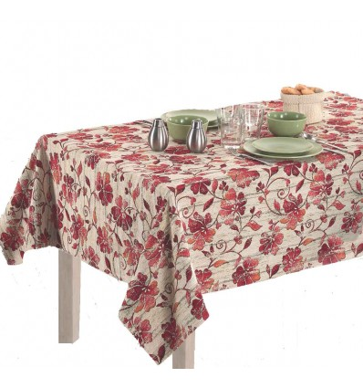 Tablecloth tablebed elegant fabric jacquard ANAIS