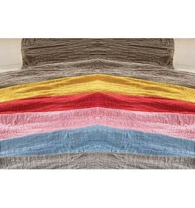 Cloth interior plaid bedspread Stropicciami TINTA UNITA