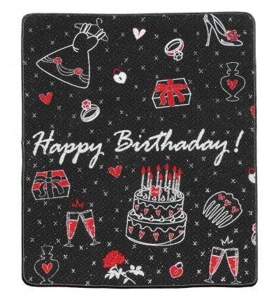Carpet event happy birthday SILUETTE 100X121 cm.