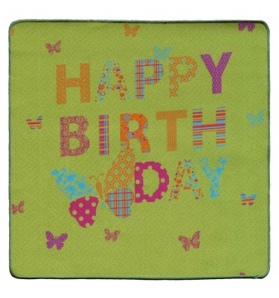 Carpet event happy birthday SILUETTE 100X121 cm.