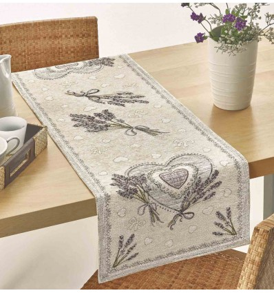 Centerpiece and LAVENDER HEARTS runner