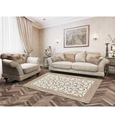 Cinillated room rug, ZEPHIR down rug