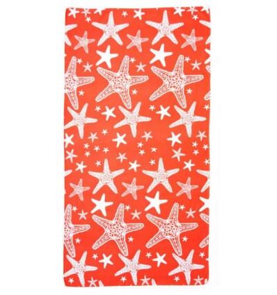 Beach towel microfibre 90x170 cm. ROSA DEI VENTI