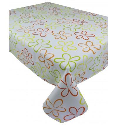 Rectangular square and rectangular tablecloth fiorellone colors printed cotton