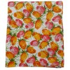 Rectangular square tablecloth printed cotton TULIPS