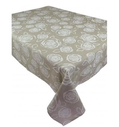 Square and rectangular roseto cotton tablecloth