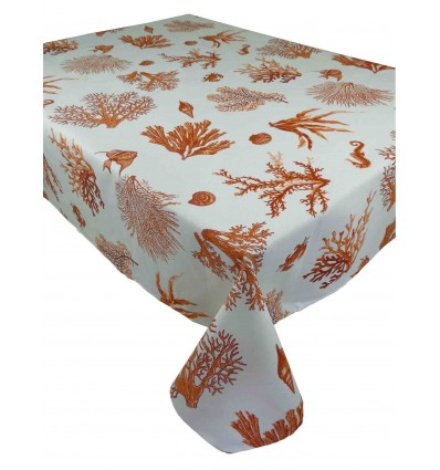 Square and rectangular tablecloth cotton FISH