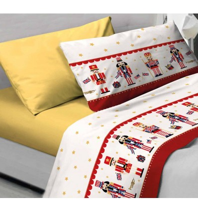 Complete single bed, double and square and half NUTCRACKER