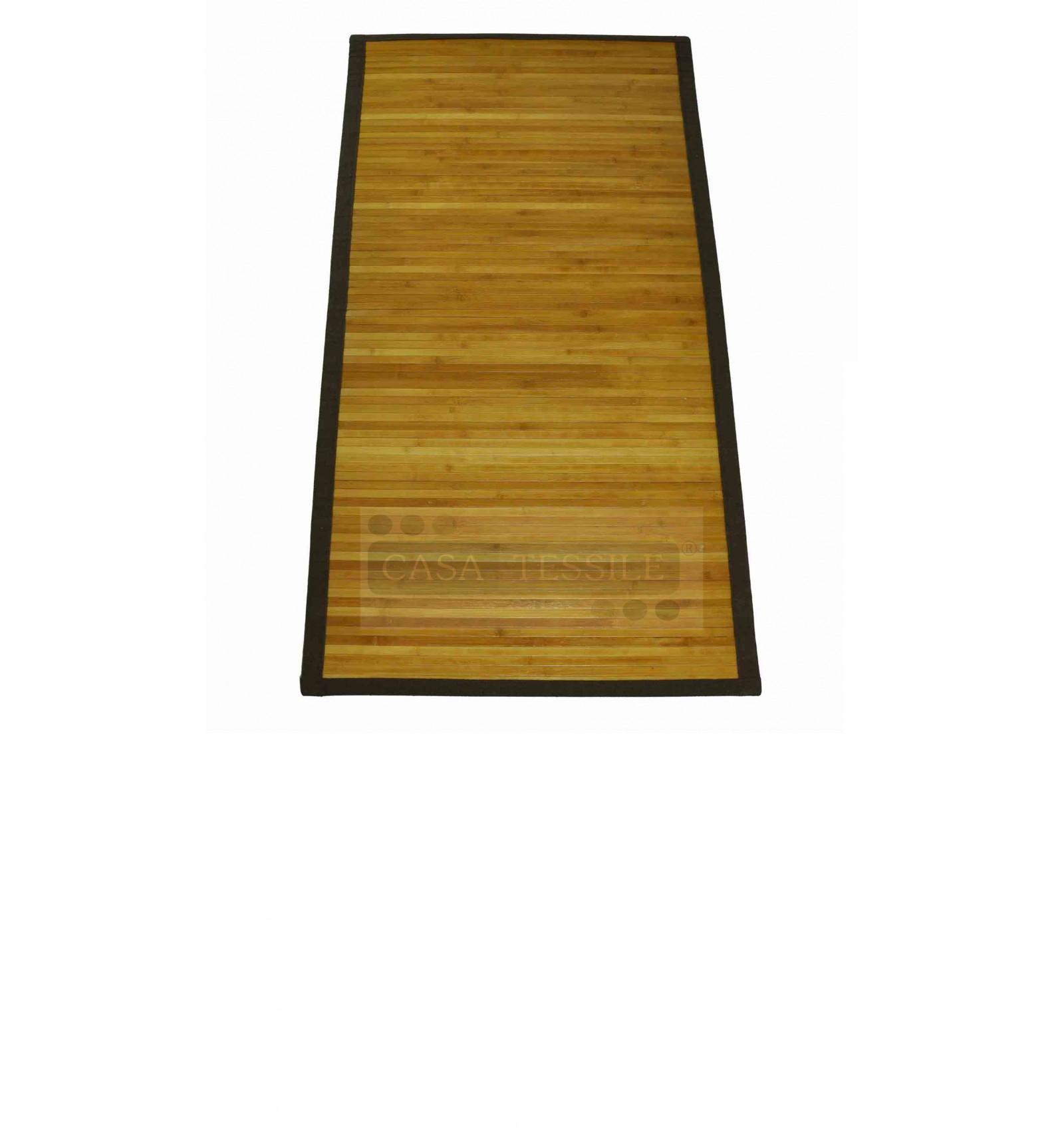 Bamboo tappeto passatoia bordo in cotone cm 45x75 - Tappeto cucina bamboo ...
