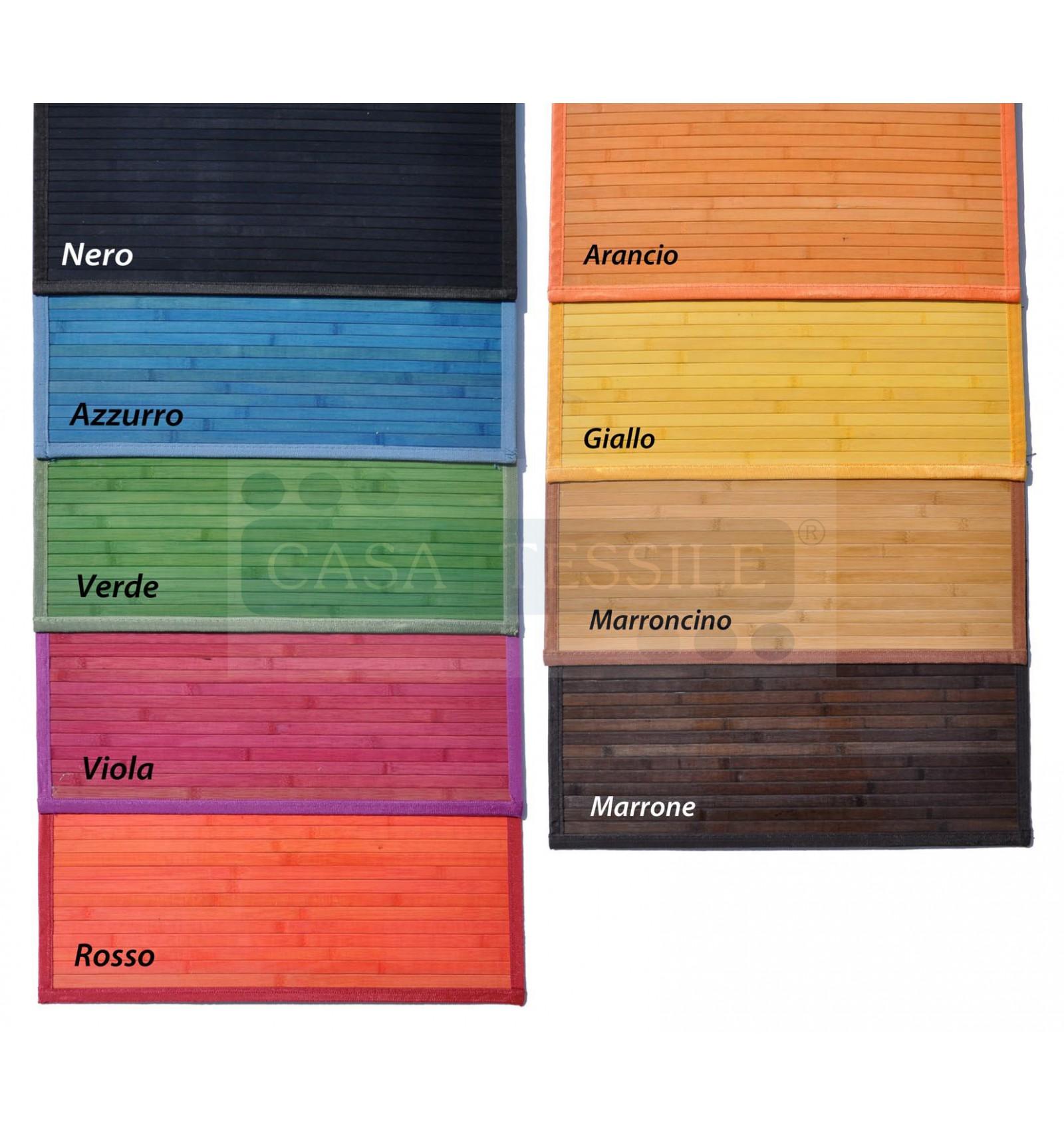Bambù liscio tappeto passatoia cm 60x240 - CasaTessile
