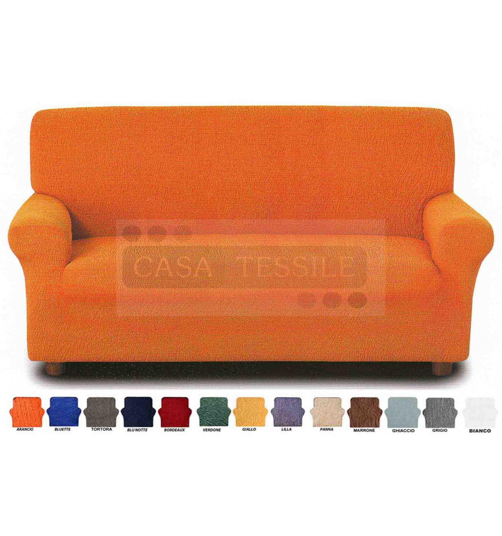 Copriliscio copri divano elasticizzato 2 posti casa tessile - Copridivano 2 posti senza braccioli ...