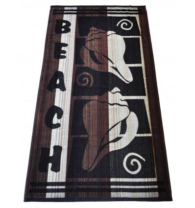 Conchiglia Terry cotton beach towel cm 86x160