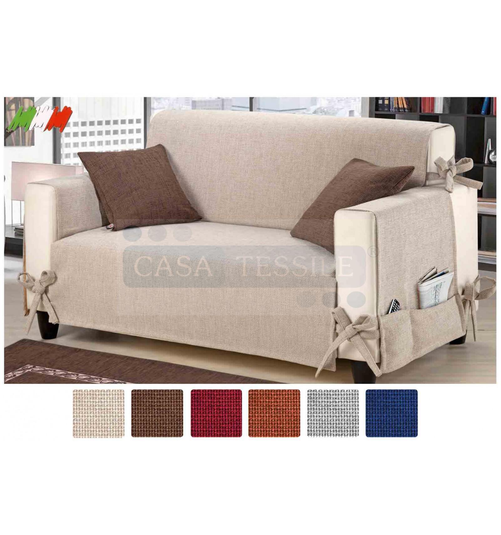 Intreccio copri poltrona e divano jacquard ciniglia varie - Misure divano al ...
