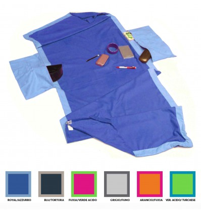 New Sandy Microfibre beach towel 70 x 185 cm deck with pockets