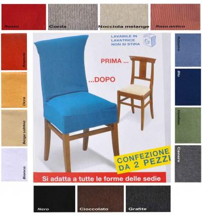 New York coppia di copri sedia universale