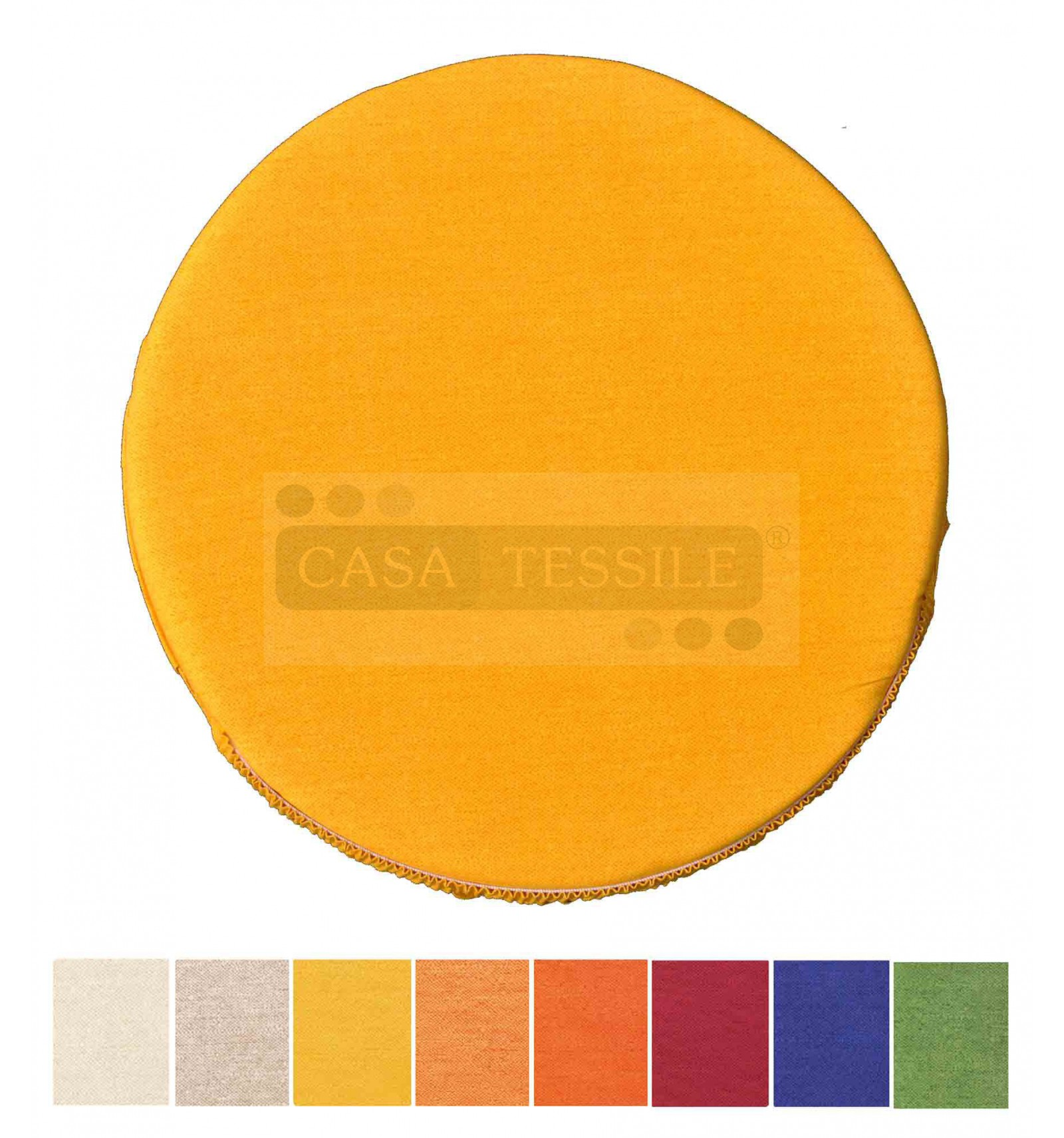 Decorazioni per interni CASA TESSILE Colorado Cuscino coprisedia Rotondo con Fascia Elastica Bordeaux Fodere coprisedia
