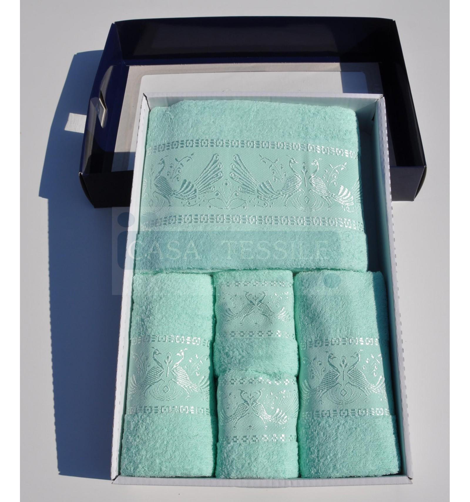 Pavoni set asciugamani 5 pz