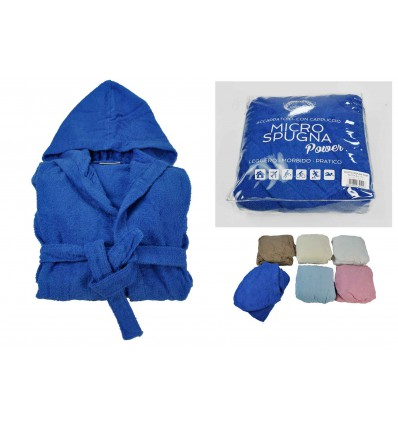 Power cotton hooded bath robe