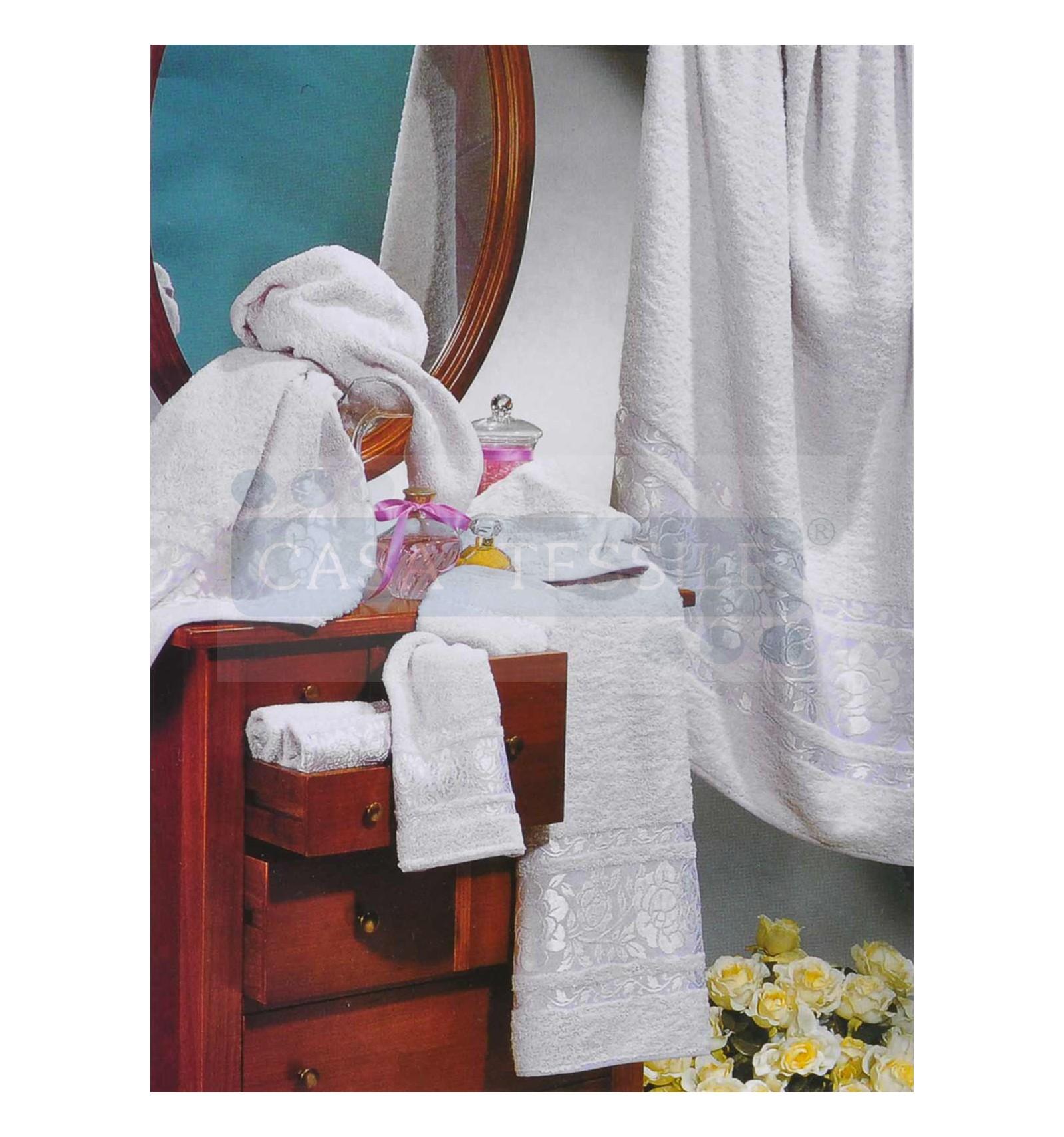 Rose set 5 pz asciugamani coordinati casa tessile - Coordinati bagno ...