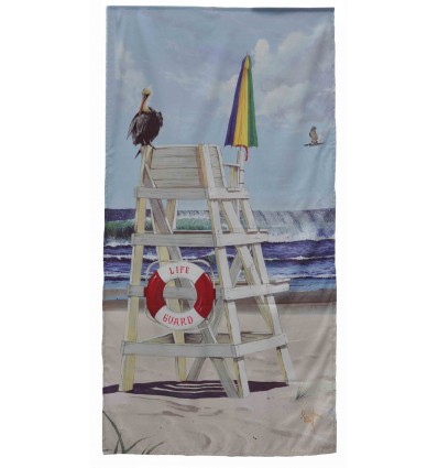 Lifeguard summer beachtowel Microfiber
